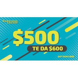 GIFT RUN CARD $500 TE DA $600