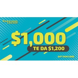 GIFT RUN CARD $1,000 TE DA $1,200